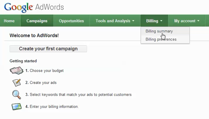 adwords account setup step 5