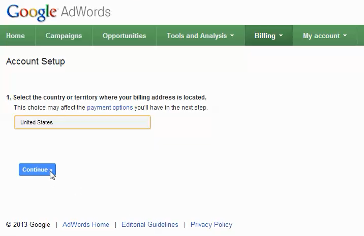 adwords account setup step 6