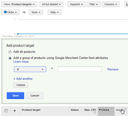Adwords PLA Setup