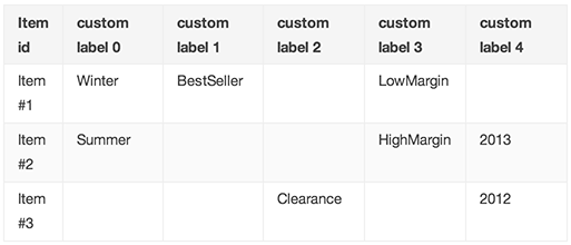 Google Shopping Campaigns Custom Label Example