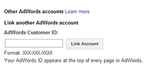 Google Merchant Settings Link AdWords Account