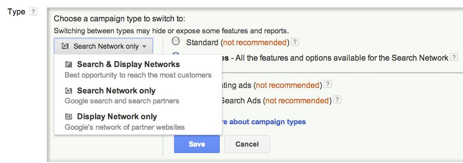 how to choose menu link google