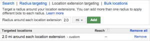 Targeted Location Extension